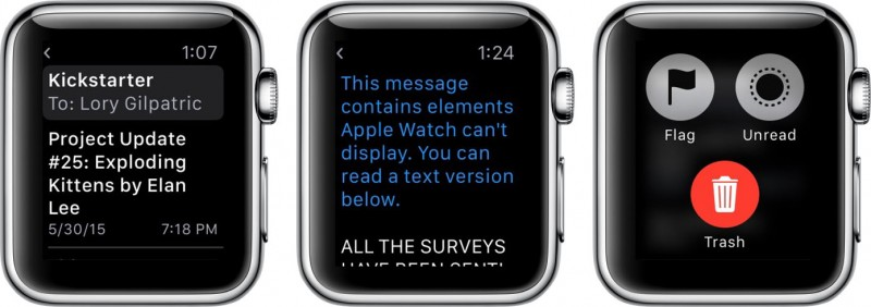 customize apple watch mails