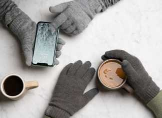 Leather Touchscreen Gloves for Men
