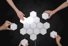 Touch Control Hexagonal Wall Light